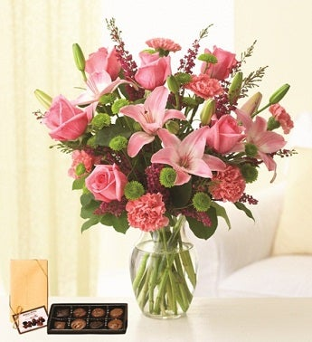 Pleasantly Pink with Chocolates