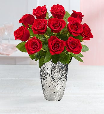 One Dozen Stem Red Roses