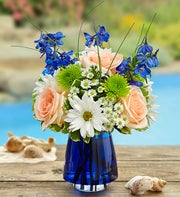 Summer Dunes? in Blue Cobalt Vase