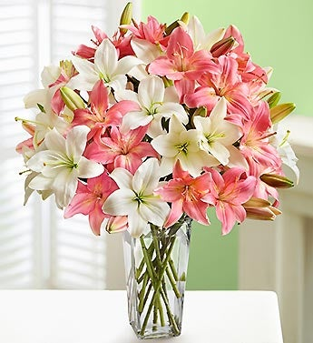 Pink and White Lillies