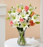 Sweet Spring Rose and Lilly Bouquet