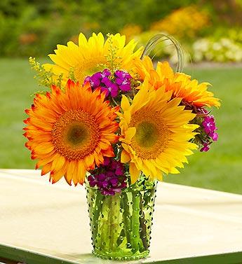 Warm Sunset Bouquet from 1-800-FLOWERS.COM