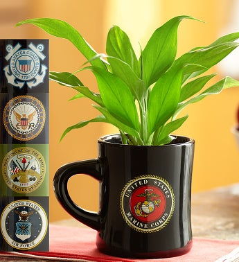 Armed Forces Mug with Peace Plant