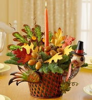 Vintage Turkey Centerpiece