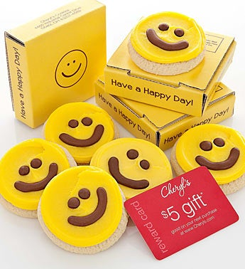 Cheryl's Happy Face Cookie Card