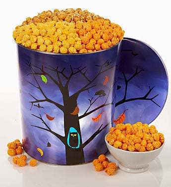 The Popcorn Factory Owl 3-way Popcorn Tin