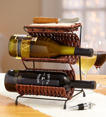 Central Coast Vineyards Wine Rack Gift Set