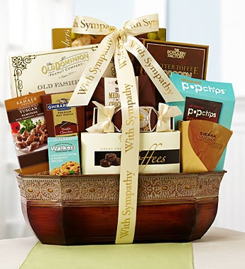 Sympathy Elegant Fare Gift Basket