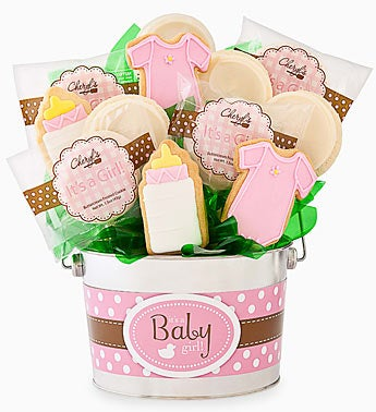Cheryl's Baby Girl Cookie Flower Pot