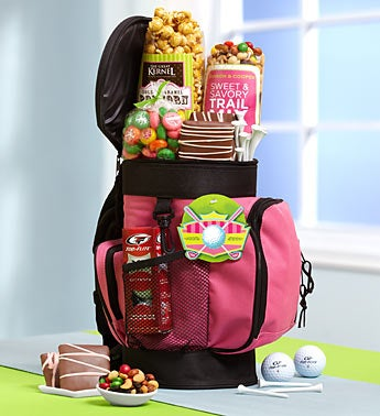 Pink Power Deluxe Golf Bag Cooler with Snacks