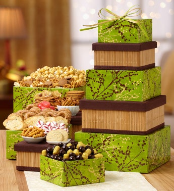 Winter Prairies Holiday Sweets Gift Tower