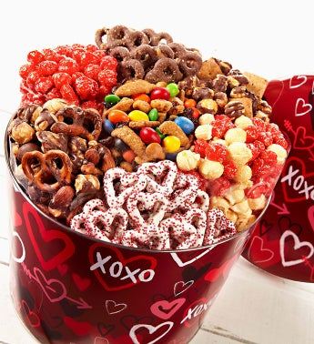 The Popcorn Factory� Graffiti Hearts 7-Way Snacks