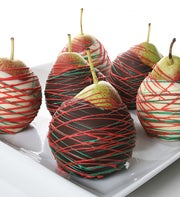 Holiday Belgian Chocolate Covered Pears