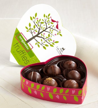 Lake Champlain� Organic Truffles in Heart Box