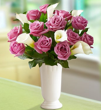 Enchanted Spring Purple Rose & Calla Lily