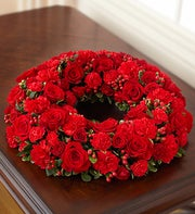 Cremation Wreath - All Red