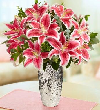Stunning Pink Valentine?s Day Lilies