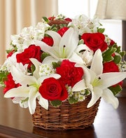 Red and White Basket