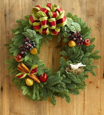 Fruitful & Festive Evergreen Wreath?