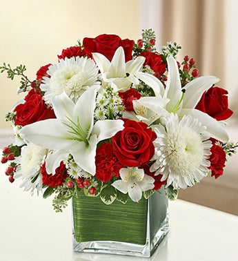 Red and White Lovely Arrangment