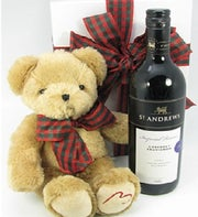 Little Ted Teddy Bear & Wine Gift