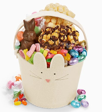 The Popcorn Factory� Felt Bunny Basket