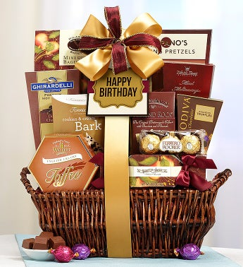 Happy Birthday Deluxe Balsam Basket
