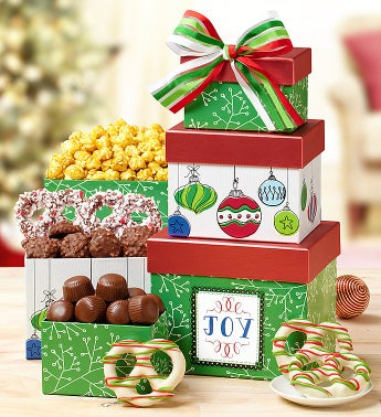 Holiday Joy Tower with Harry London� Chocolates