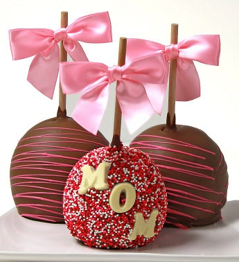 Caramel Chocolate Dipped Apples for Mom?