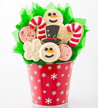 Cheryl's Snowman Peppermint Cookie Pot
