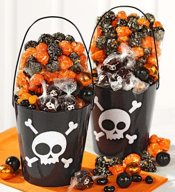 Popcorn Factory� Skulls Glitter Pails set of 2