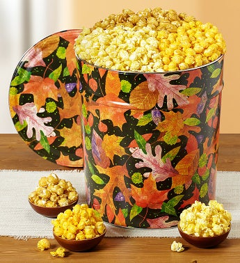 The Popcorn Factory� Fall Colors Popcorn Tins