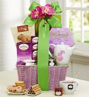 Spring Splendor Tea & Sweets Gift Basket