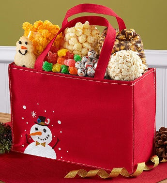 The Popcorn Factory� Snowtime Treat Tote