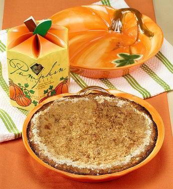 Pumpkin Cobbler & Pumpkin Stoneware Baker Gift