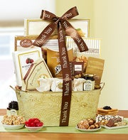 With Sincere Thanks Gourmet Gift Basket