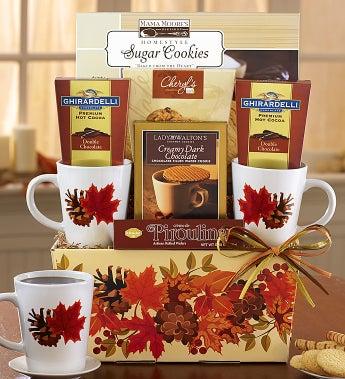 Autumn Leaves Cocoa & Mug Gift Set