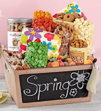 Popcorn Spring Chalkboard Basket