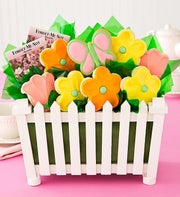 Cheryl's Picket Fence Flower Garden Cookie Gift