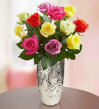 12 Stem Multi Roses