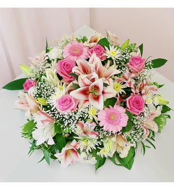Large Pink Sympathy Wreath