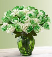 St Patrick's Day Roses, 12-24 Stems