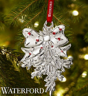 Waterford Mistletoe Ornament