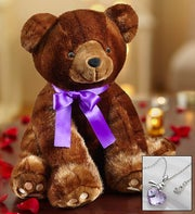 Luxury Sable Bear with Chocolate Strawberries