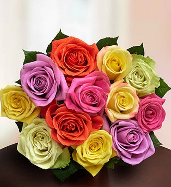 Mixed Roses in a Bouquet