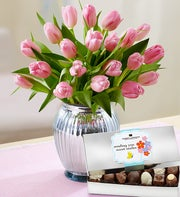 Perfectly Pink Tulips, 20 Stems