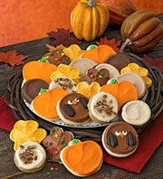 Cheryl's  Autumn Leaf and Pumpkin Cut-out Cookies