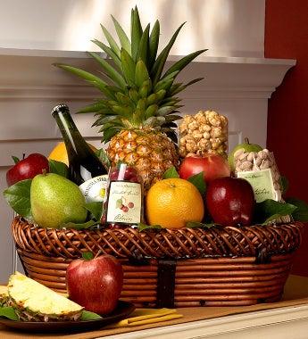 Bountiful Fruit & Gourmet Gift Basket