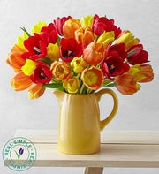 Autumn Tulips in Pitcher by Real Simple�