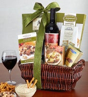 Vineyard Cellars Red Wine & Savories Gift Basket